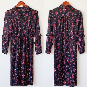 Topshop Floral Button Up Dress